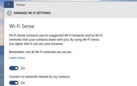 WiFi Sense en Windows 10