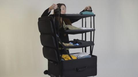 Shelfpack, la revolucionaria maleta con baldas.