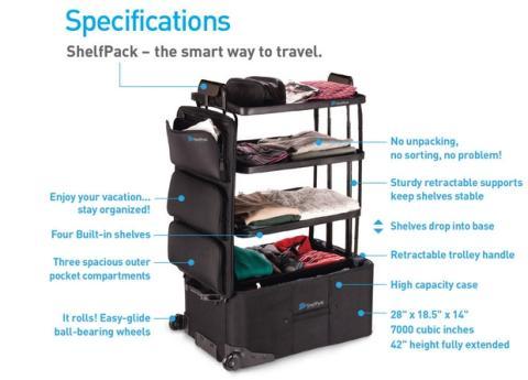ShelfPack maletas con baldas