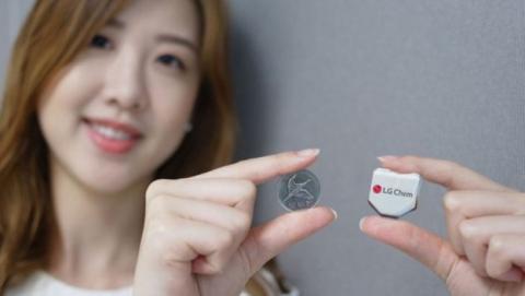 La nueva batería de LG presenta una forma hexagonal