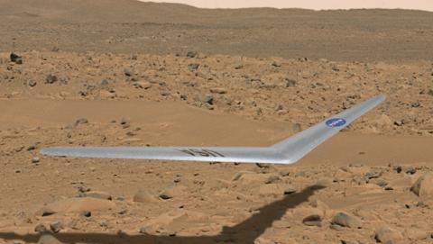 avión en Marte