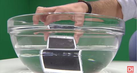 Xperia m4 en agua