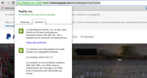 Una web finge ser Paypal para robar contraseñas a los usuarios