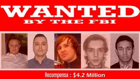 Los cinco hackers más buscados por el FBI