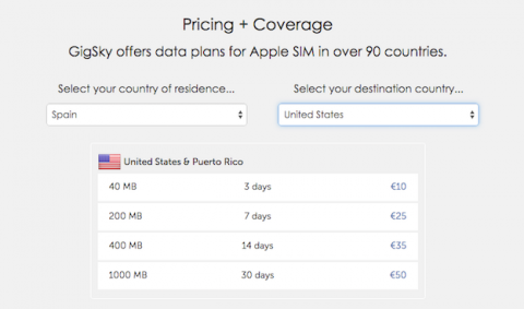 Tarifas Apple Sim España Estados Unidos
