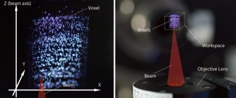 Plasma holográfico en 3D