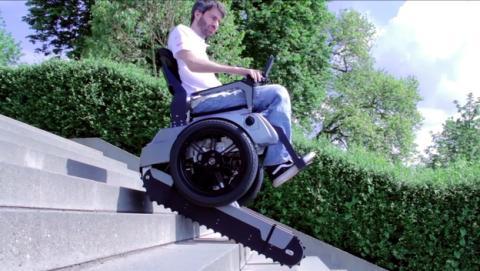 Scalevo, la silla de ruedas que sube escaleras (vídeo)