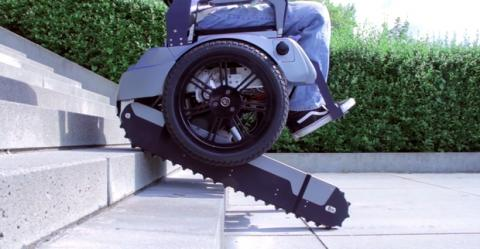 Scalevo, la silla de ruedas que sube escaleras