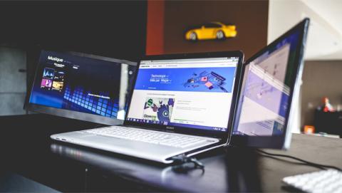 Slidenjoy, el accesorio para triplicar la pantalla de tu ordenador portátil
