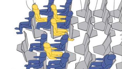 Volar será una pesadilla con esta nueva distribución de asientos