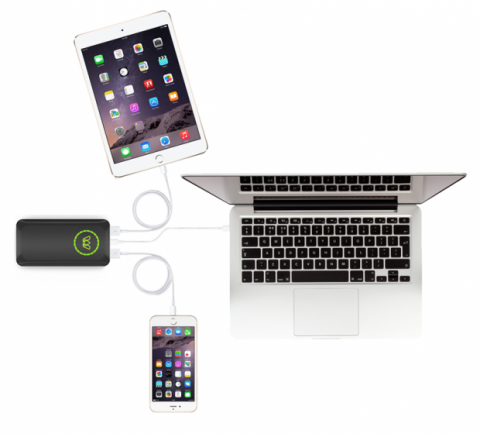 Una batería externa puede cargar el portátil y dos dispositivos más a la vez