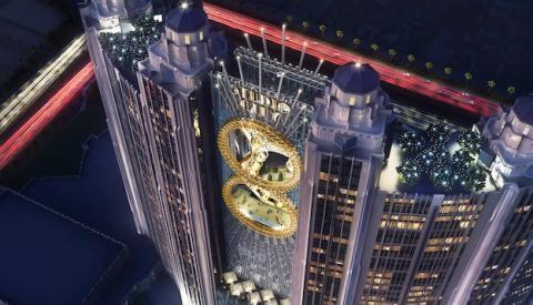 China construye la noria más grande del mundo en forma de 8