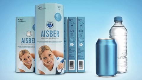 Aisber enfriador latas funciona sin electricidad hielo