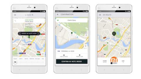 Uber y Xiaomi se alían para enviarte tu nuevo teléfono a casa