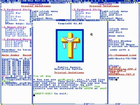 TempleOS, sistema operativo de Dios