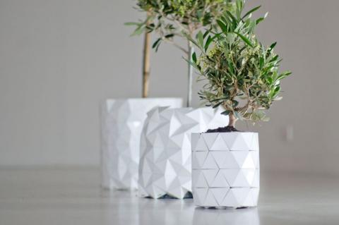 Growth, el tiesto de origami