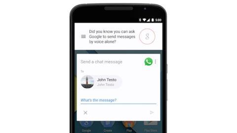 Android te deja dictar mensajes de WhatsApp, Telegram