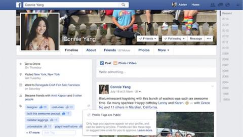 Facebook pone a prueba etiquetas de perfil