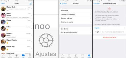 Borrar cuenta de WhatsApp paso a paso en iPhone
