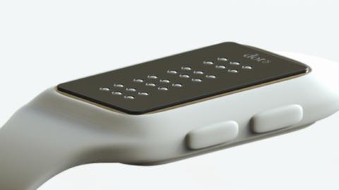 Dot, el reloj inteligente en braille para ciegos