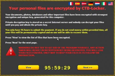 Emails falsos de Windows 10 infectan con ransomware CTB-Locker