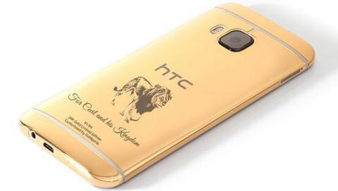 El león Cecil homenajeado en la carcasa de un HTC One M9 de oro