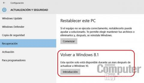 Cómo recuperar 20 GB de espacio tras instalar Windows 10