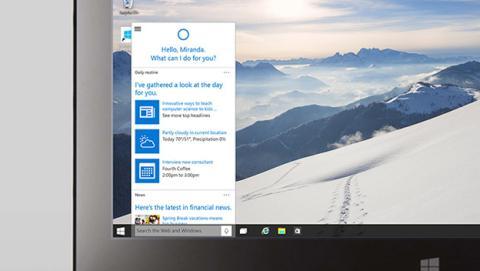 El asistente personal de Windows 10, Cortana, usa Bing y no Google