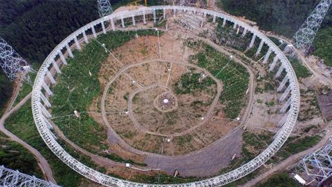 China construye el radiotelescopio más grande del mundo