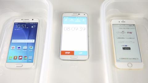 iPhone S6 y Samsung Galaxy S6, ¿cuál aguanta más?