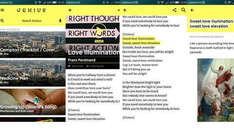 Genius, la app que te ayuda a interpretar tus canciones favoritas