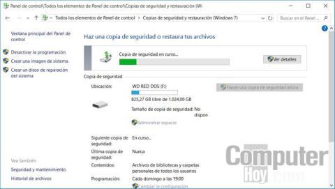 Cómo hacer una copia de seguridad o backup de tu PC en Windows 10