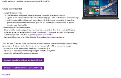 Consigue tu disco de Windows
