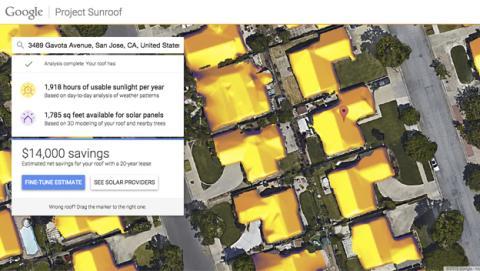 Google te dirá la energía solar que puede obtener tu casa