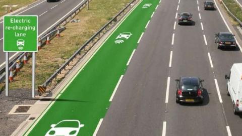 carretera coches eléctricos