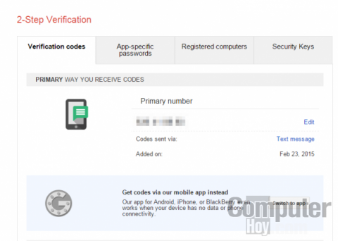 Gestiona la verificación en dos pasos de Gmail desde Authy