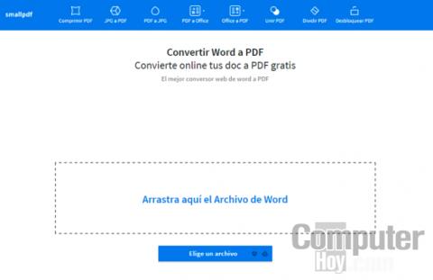 Crea un PDF desde un archivo de Office