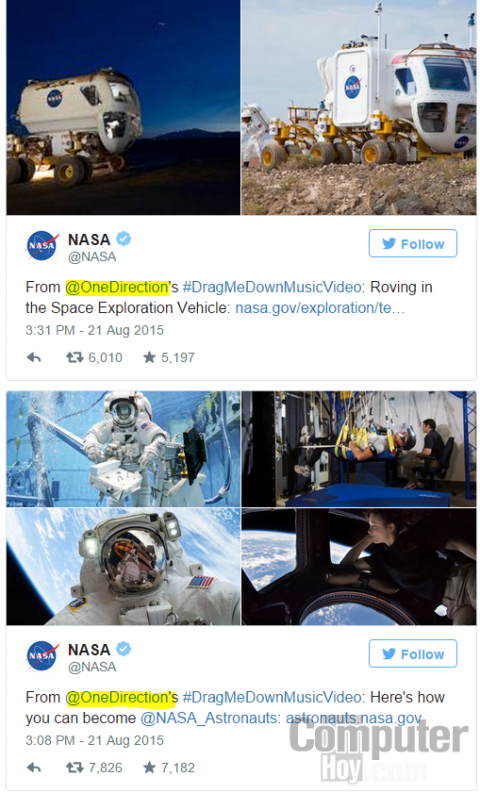 one direction nasa