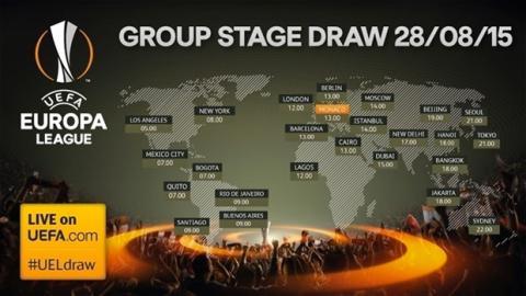Horario sorteo Europa League 2015-16