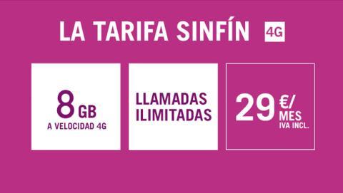 Nueva tarifa Sinfin de Yoigo