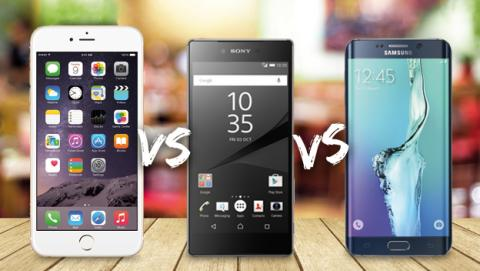 Comparativa Xperia Z5 Premium vs iPhone 6 Plus vs Galaxy S6 Edge+