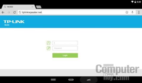 TP-Link RE450TP-Link RE450 Configuración web