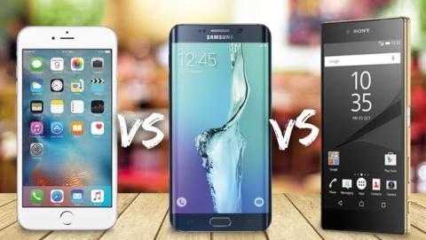 comparativa iphone samsung sony