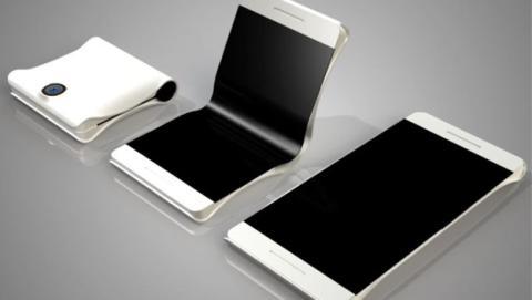 Concepto del móvil flexible de Samsung