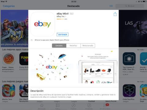 Instala la app de eBay