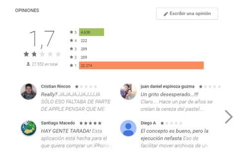 Move to iOS app de Apple en Android