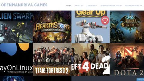 OpenMandriva Games es la web de juegos Linux para usuarios de esta distro