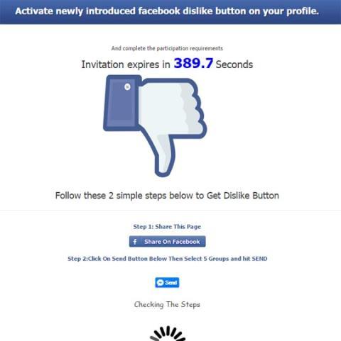 ¡Cuidado! Nueva estafa con el botón No Me Gusta de Facebook