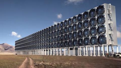 ventilador gigante convierte CO2 combustible