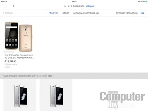 búsqueda de productos en eBay